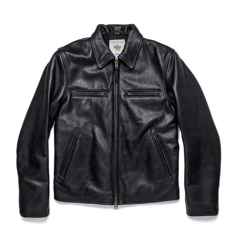 The Moto Jacket in Black Steerhide - featured image