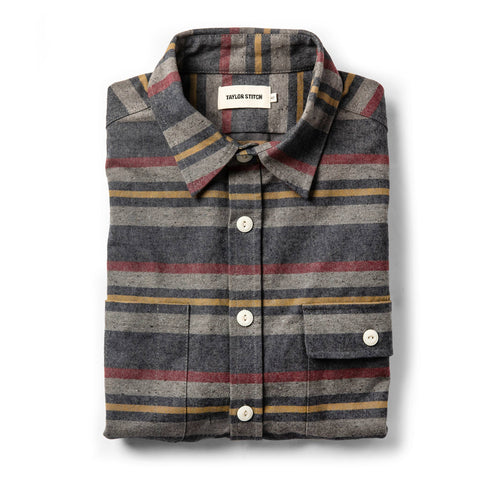 The Moto Shirt in Blanket Stripe - featured image