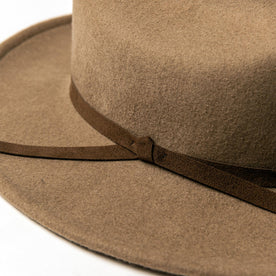 material shot of hat, detailing