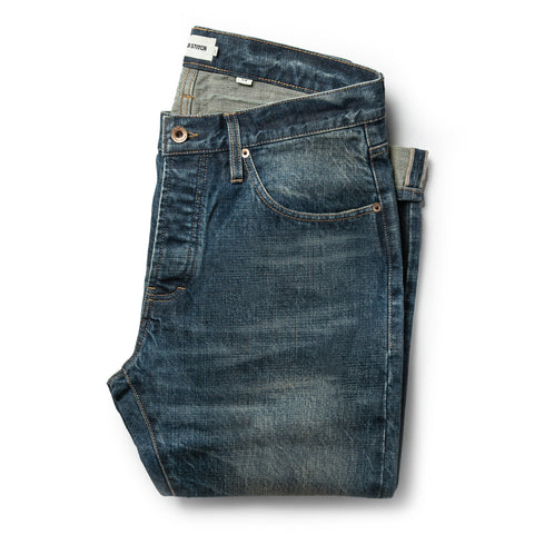The Slim Jean in Organic Selvage 12-month Wash - featured image
