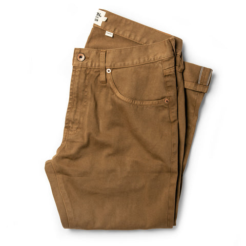 The Democratic All Day Pant in Rustic Oak Organic Selvage - featured image