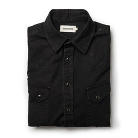 The Western Shirt in Washed Black Selvage Chambray - featured image