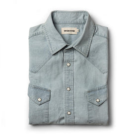 The Western Shirt in Washed Selvage Chambray: Featured Image