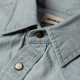 The Western Shirt in Washed Selvage Chambray: Alternate Image 7