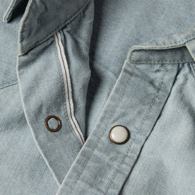 The Western Shirt in Washed Selvage Chambray: Alternate Image 8