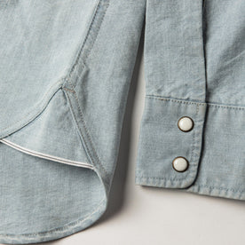 The Western Shirt in Washed Selvage Chambray: Alternate Image 9