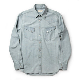 The Western Shirt in Washed Selvage Chambray: Alternate Image 11