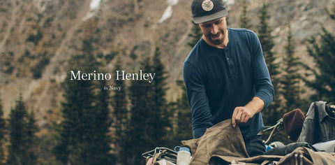 The Merino Henley in Indigo