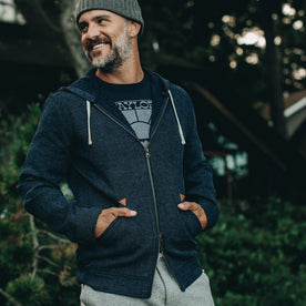 The Après Hoodie in Indigo Waffle - featured image
