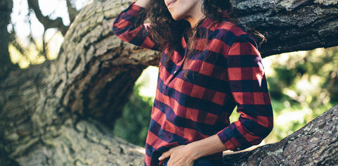 The Whitney Popover in Red Buffalo Plaid