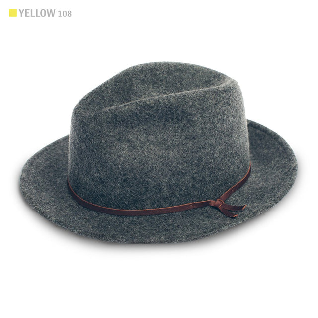 The Luke Fedora in Grey