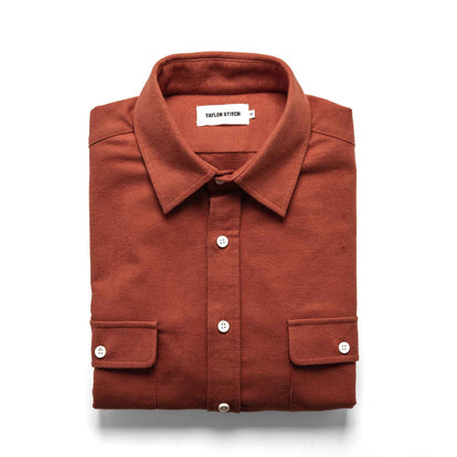 The Yosemite Shirt in Dusty Red: Featured Image