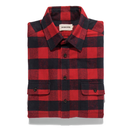 The Yosemite Shirt in Red Buffalo Plaid