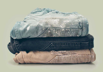 A stack of chore pants