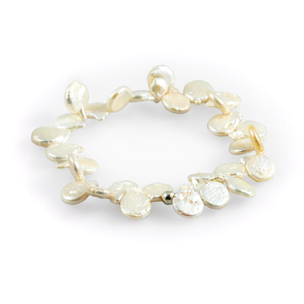Breezy day white bracelet