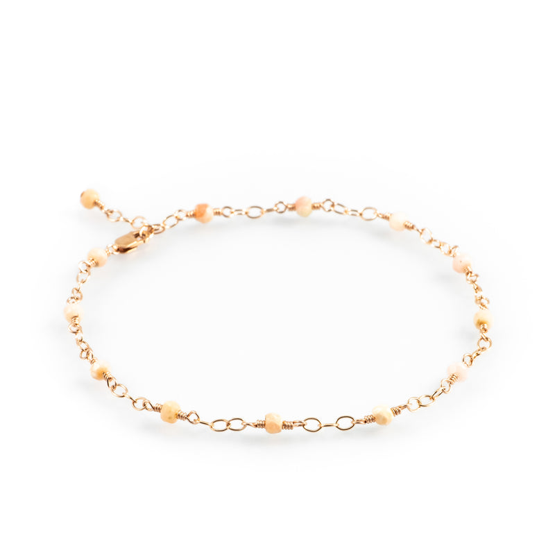 Sandy toes opal anklet