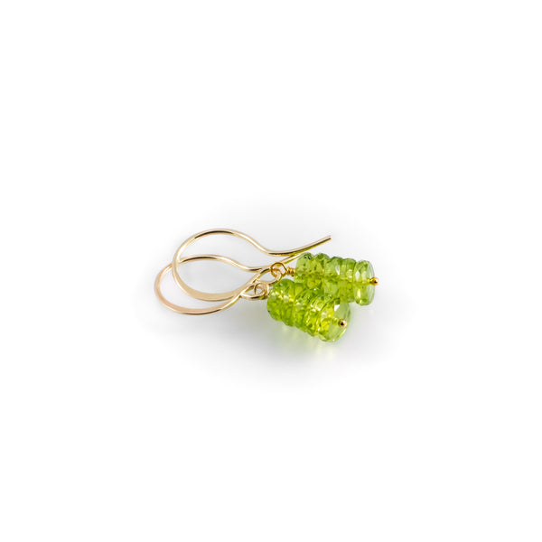 Lime sparkle earrings