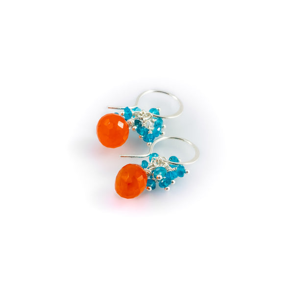 Tangelo-Aqua Earrings