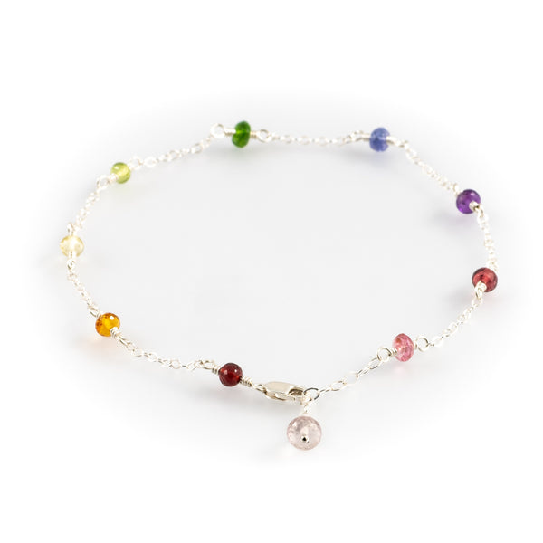 Garden Party Gemstone Anklet