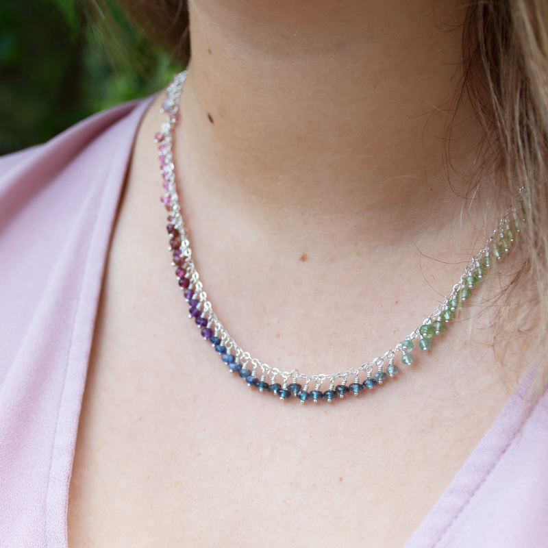 Rainbow drops necklace