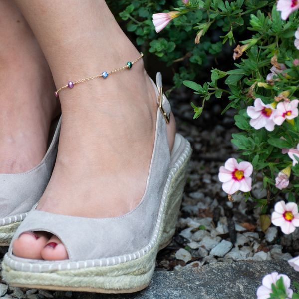 Garden Party Pearl Anklet