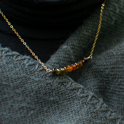 Autumn sunset necklace