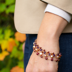 Autumn sunset bracelet