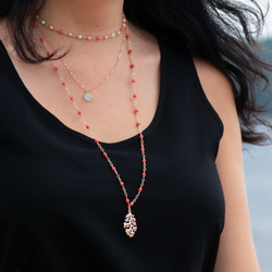 Coral Reef Layered Necklaces (set of three)
