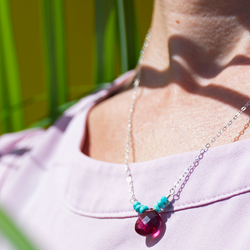 Cherry drop necklace