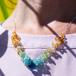 Citrus burst statement necklace