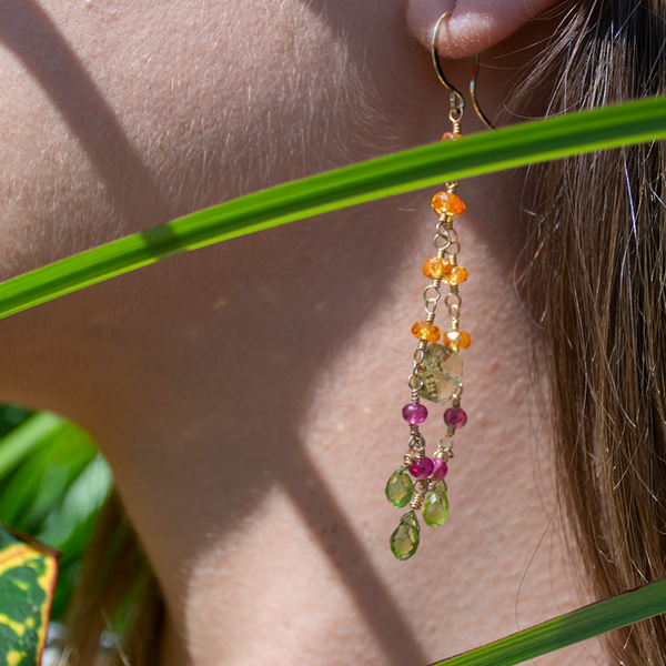 Citrus chandelier earrings