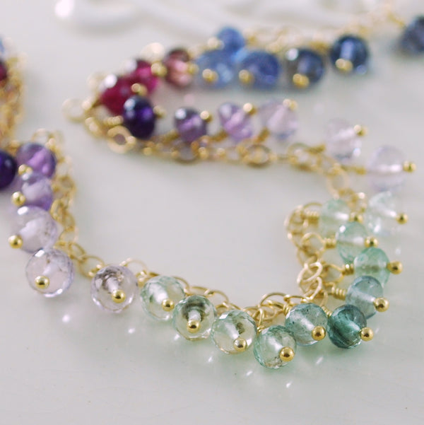 Design Your Own Gemstone Fringe Anklet