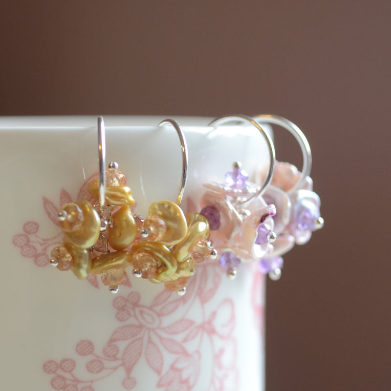 Design Your Own Bridesmaid Earrings with Keishi Pearls