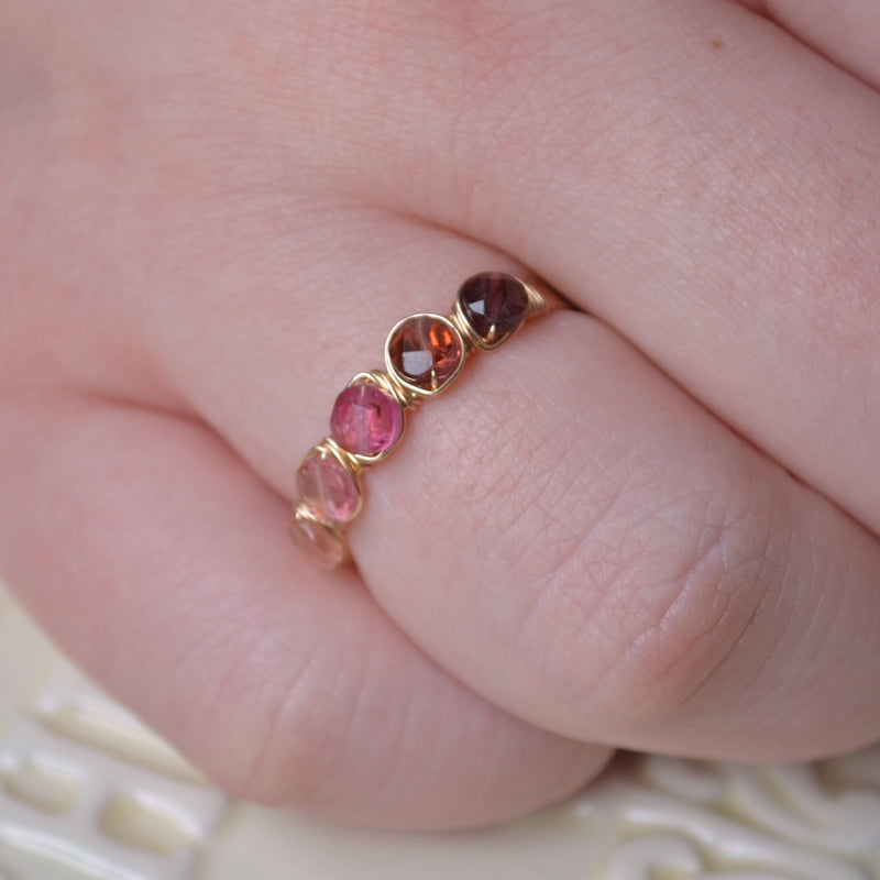 Pink Tourmaline Ring in Gold