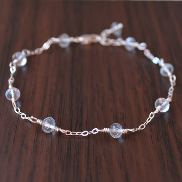 Light Blue Topaz Bracelet for Teens