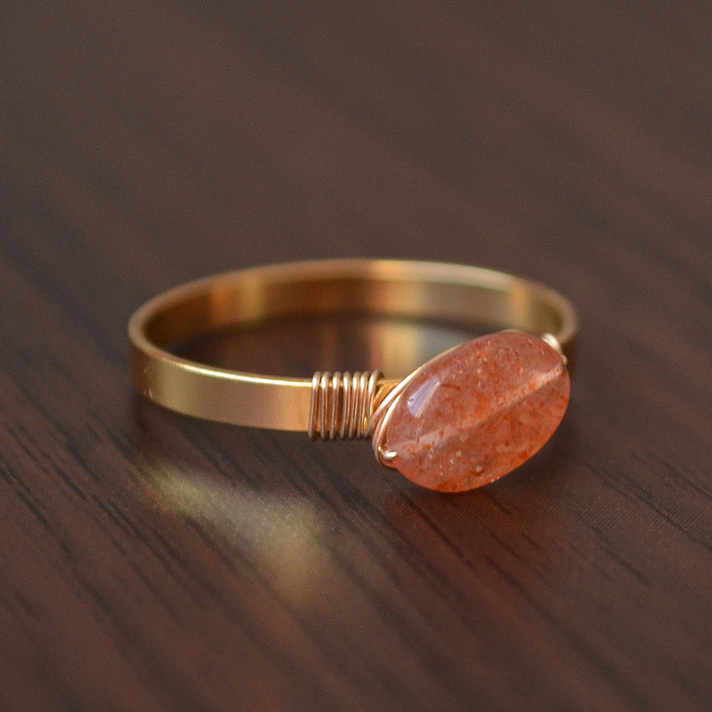Custom Sunstone Ring in Gold - Size 6
