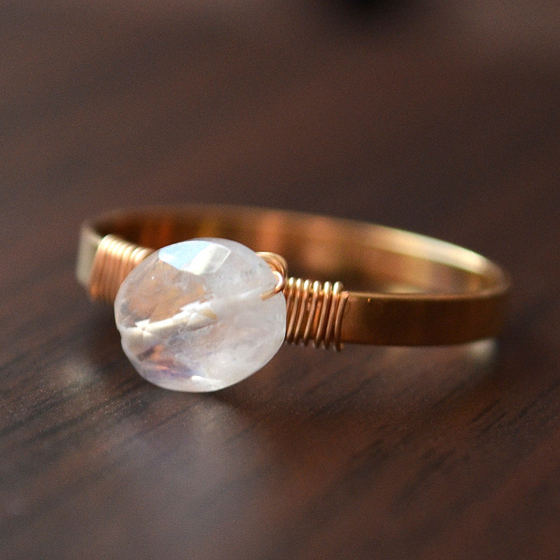 Moonstone Ring in Gold
