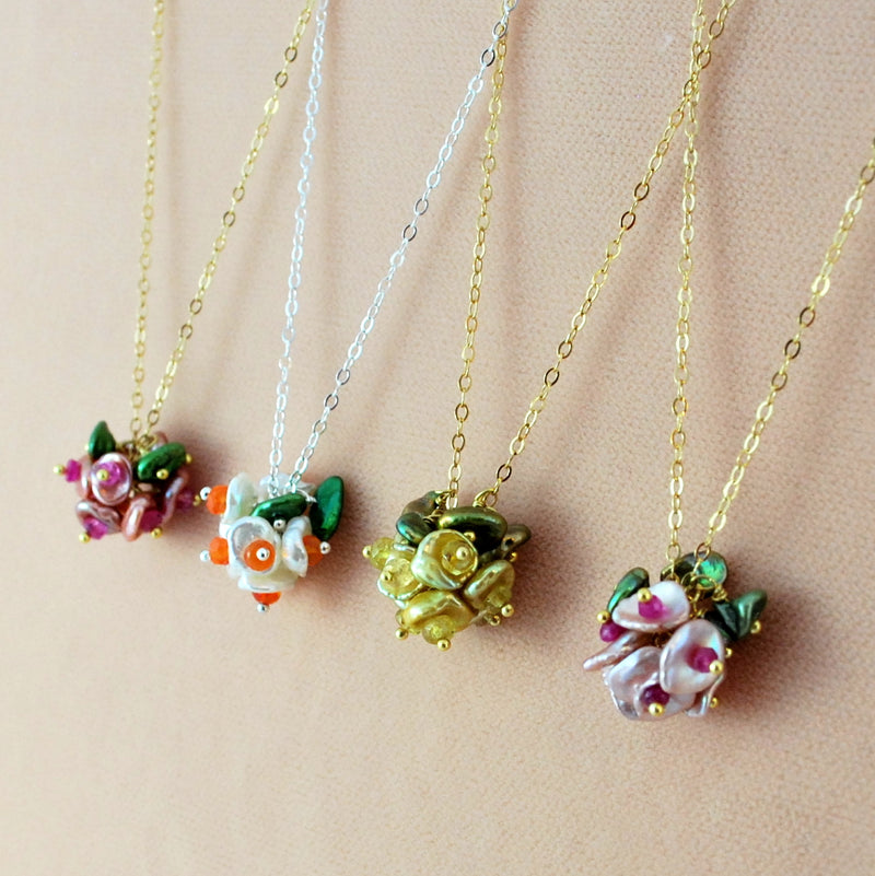 Design Your Own Bridesmaid Necklaces with Keishi Pearls
