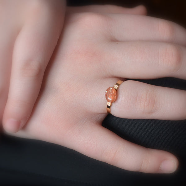 Sunstone Ring in Gold