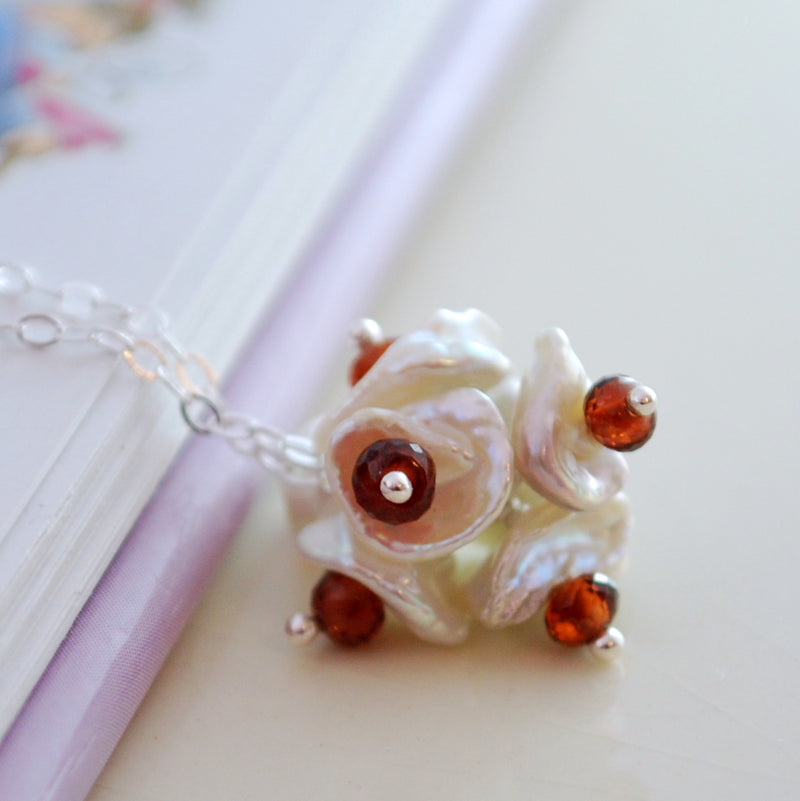Sapphire Flower Blossom Necklace