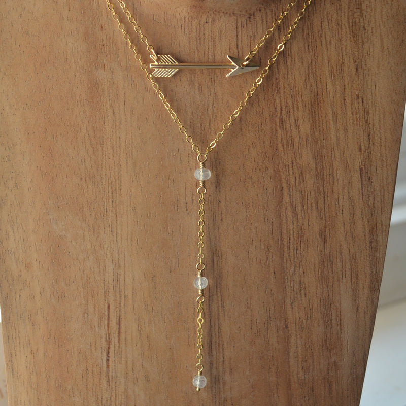Gold Arrow Choker Necklace