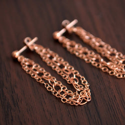 Rose Gold Chain Earrings