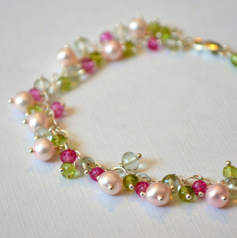 Spring Wedding Bracelet in Sterling Silver - Rosebud