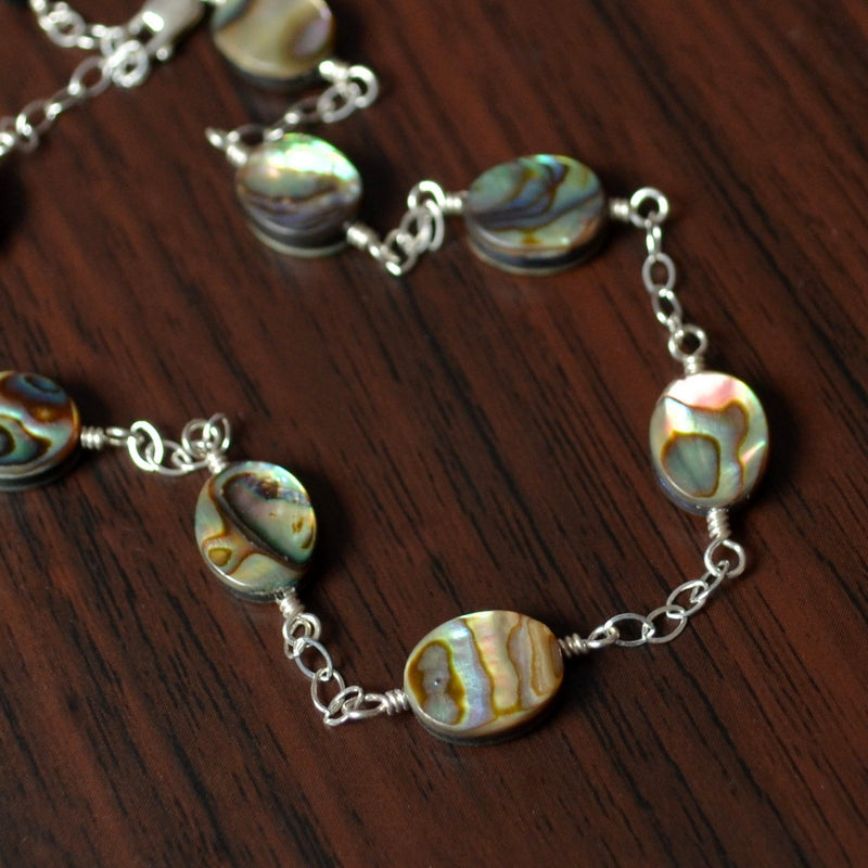 Abalone Anklet with Genuine Paua Shell