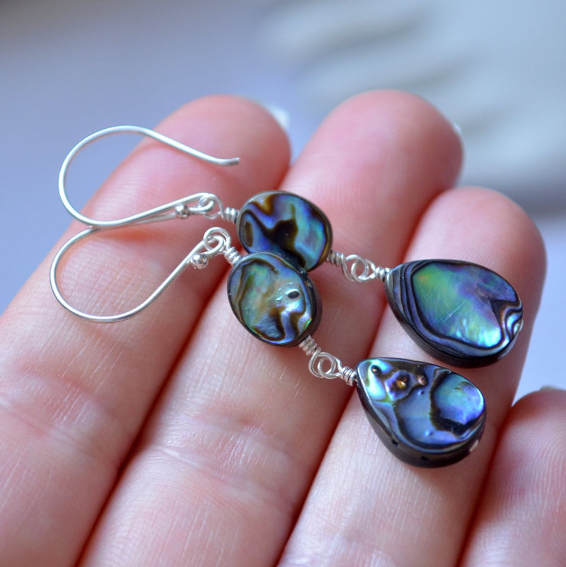 Abalone Earrings with Paua Shell