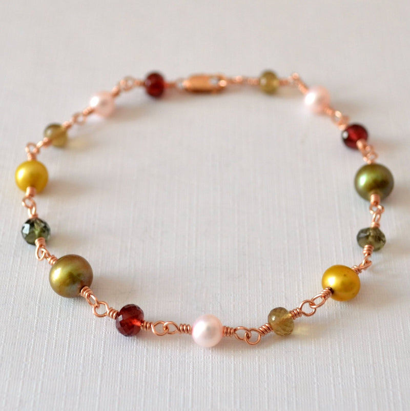Christmas Bracelet with Freshwater Pearl