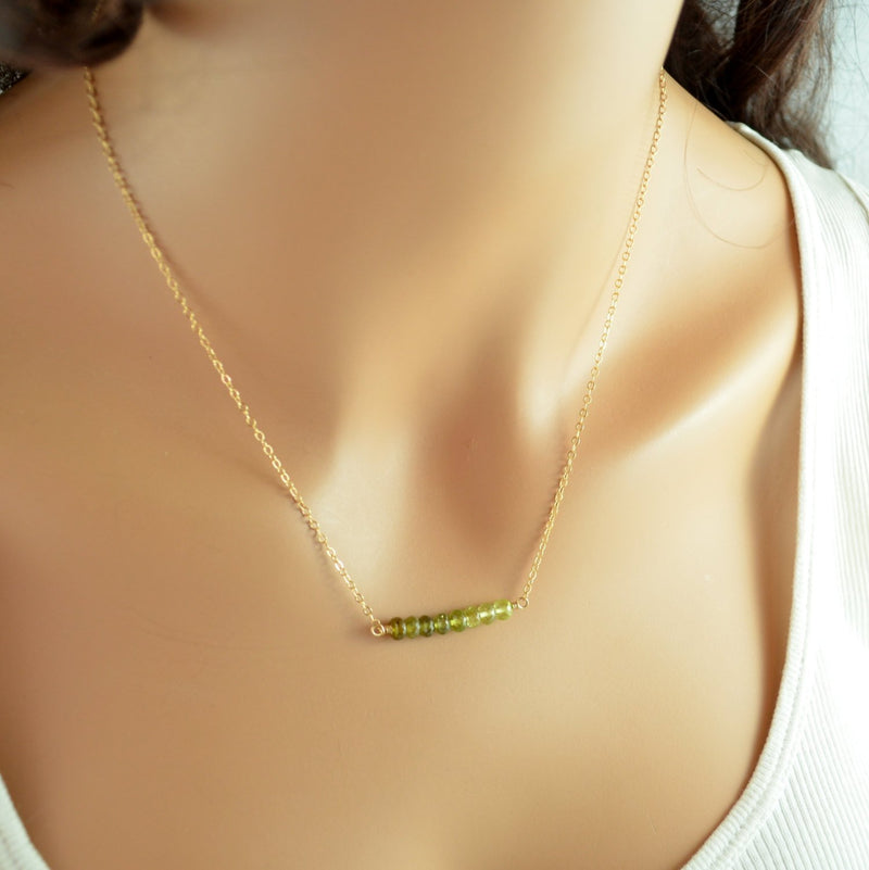 Green Grossular Garnet Necklace