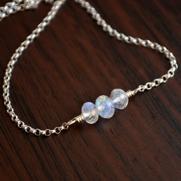 Rainbow Moonstone Choker