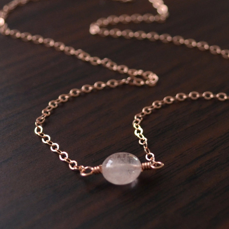 Peach Morganite Choker