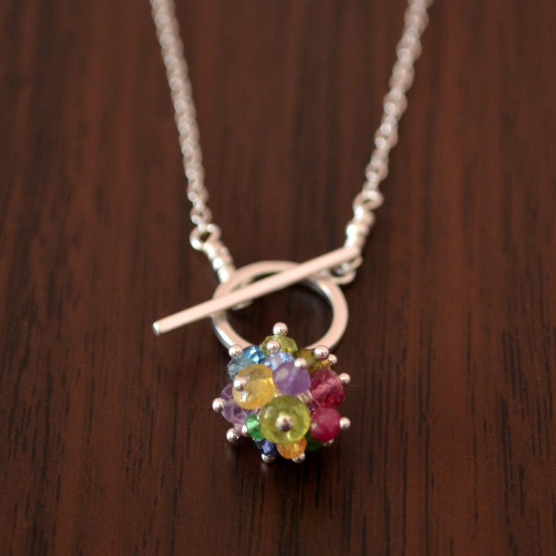 Rainbow Toggle Necklace
